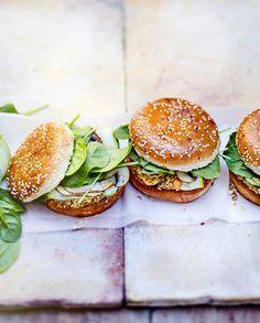 Burger veggie pois chiche champignon avoine pour 6 personnes - Recettes Elle à Table