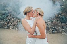 Wedding Photos 33 Emotional LGBT Wedding Photos That Will Leave You Weak In The Knees - June is LGBTQ Pride Month and we're kicking things off with a big ol' celebration of love. Lesbian Wedding Photos, Cute Lesbian Couples, Lgbt Wedding, Wedding Pics, Wedding Bride, Dream Wedding, Wedding Day, Wedding Ceremony, Wedding Dresses