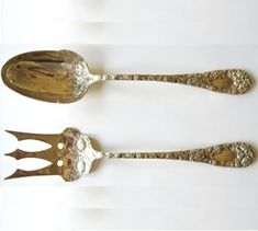 Silver Vintage Lettuce Fork Sterling Silver Frank Whiting 1900 Ideal Gift For All Occasions