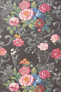 venetian bouquet wallpaper by york wallcoverings / @Anthropologie .