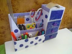 DIY Cute mini 3 drawers organizer - Recycling Cardboard - YouTube