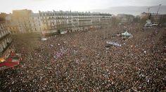 La manifestación contra el terrorismo ha sido un cóctel de credos, colores de piel, países, banderas y lenguas