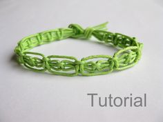 Easy knotted bracelet instructions pdf macrame pattern green how to jewelery photo tutorial makrame tuto step by step handmade tutoriel diy by Knotonlyknots on Etsy https://www.etsy.com/listing/118561898/easy-knotted-bracelet-instructions-pdf