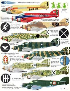 Savoia Marchetti Sparviero Page Passenger Aircraft, Ww2 Aircraft, Fighter Aircraft, Military Aircraft, Fighter Jets, Military Jets, Old Planes, Aircraft Painting, Aircraft Design