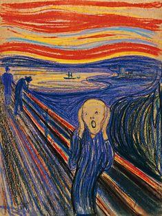 Edvard Munch – 1863-1944 – Norveç  The Scream – Çığlık  'Çığlık', korkan, umutsuz ve karamsar bir insanın yüzüne verdiği ifadedeki mükemmelliğiyle dikkat çeker. Doğanın çığlığı olarak da anılan eserde ressam, gün batımı esnasında, trabzanlara yaslanmış insanın, doğanın sesini duyduğu andaki ifadesini resmeder.