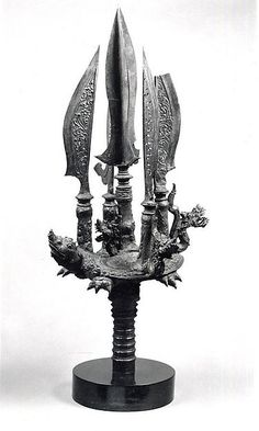 Halberd Head with Nagas and Blades on a Tortoise | Indonesia (Java) | Eastern Javanese period, Singasari kingdom | The Met