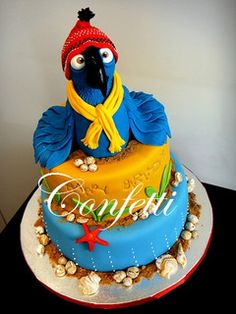 Oh WOW! Marina at Confetti did a beautiful job on this cake parrot bird RIO by confetti_jeddah, via Flickr