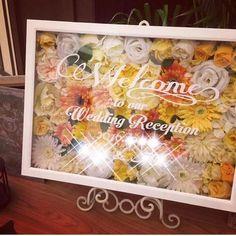 100均材料だけ!ウェルカムボードの作り方♪|LIMIA (リミア) Wedding Reception, Our Wedding, Welcome Boards, Diy And Crafts, Bouquet, Toys, Frame, Flowers, Home Decor