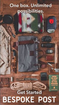 Meet the Box of Awesome. - Bespoke Post - Meet the Box of Awesome. Themed boxes for guys who give a damn. Take our short quiz to see your first box today. Survival Life Hacks, Survival Tools, Wilderness Survival, Survival Prepping, Emergency Preparedness, Survival Shelter, Bushcraft Camping, Camping Survival, Outdoor Survival