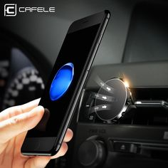Black TIQUS Universal Air Vent Magnetic Mount Phone Holder for Smartphones Mini Tablets and GPS Devices Car Phone Holder