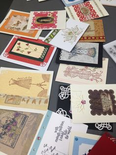 Examples of the beautiful greeting cards made in our Greeting Card Workshop.