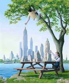 Rob Gonsalves is a Canadian painter of magic realism illusions