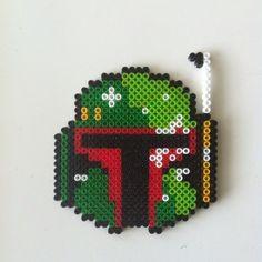 Boba Fett - Star Wars hama perler beads by idareu Perler Beads, Perler Bead Art, Fuse Beads, Pearler Bead Patterns, Perler Patterns, Perle Hama Star Wars, Geek Perler, Pixel Art, Art Perle