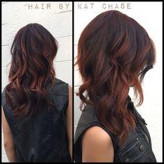 Fall balayage haircolor , red hair ,plum hair , copper hair