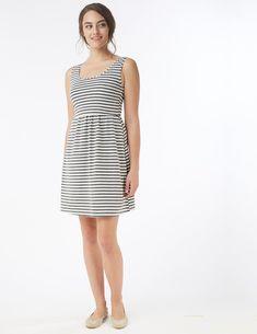 5d5d073f126 MEV Grey Stripe Must Have Nursing Tank Dress - milk & baby – Milk &
