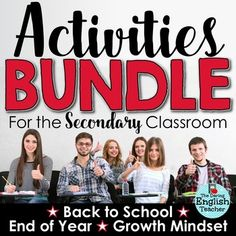 Back to School - Growth Mindset - End of Year Activities Bundle for Secondary Students!  This Activities Bundle for Secondary Students includes three of my best selling activities resources.