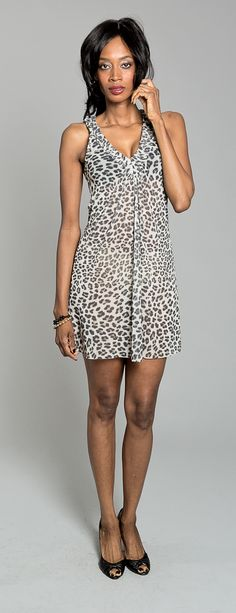 Light and airy leopard print dress by Sweet Pea. $29