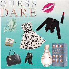 """""""Heat Up Your Valentine's Day with GUESS DARE: Contest Entry"""" by monaline on Polyvore"""