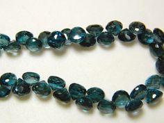 London Blue Topaz Beads Topaz Onion Briolette by gemsforjewels
