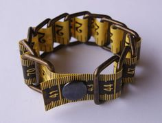 Upcycled tape measure Bracelet