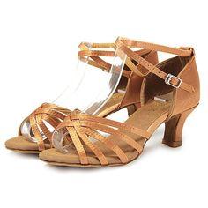Shoe Type: Dance Shoes Toe:Open Toe Closure Type: Slip On Heel Type:Cone Heel Heel Height: 5cm Gender: Female Occasion: CasualSeason: Summer Autumn Color: Black Golden Silver Beige Brown Material: Upp