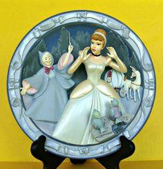 Disney Princess Cinderella 3D Collectible Plate A Wonderful Dream Come True Box
