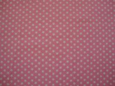 Small Pink and White stars snuggle flannel fabric. by flyingdollar, $5.99