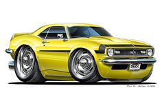 Madd Dogg's Muscle Car Art | Madd Doggs 1967 68 Chevrolet Camaro SS Musclecar T Shirts Maddmax Car