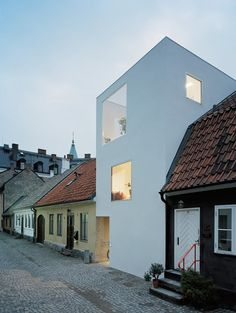 Simple and modern - sits lightly in the traditional streetscape