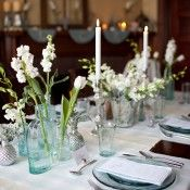 Icy Blue & Silver Winter Tabletop - Elizabeth Anne Designs: The Wedding Blog