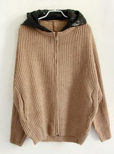 Pink Hooded Bat Sleeve Sweater$45.00