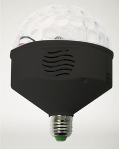 Stagelight Rotating LED Lights with Dual Bluetooth Speakers - Light & Sound Bulb #Stagelight