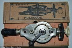 Macaura's Pulsocon Hand Crank Vibrator, which resembles an archaic egg whisk, is now on display at Littledean Jail, Forest of Dean, Victorian Crime And Punishment, Research Images, Forest Of Dean, Dildo, Vintage Ads, Archaeology, Cleaning Hacks, Old Things, Display