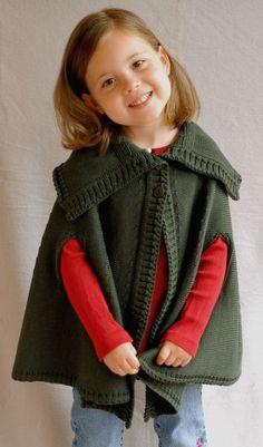 *100% Merinowolle* In diesem modernen Poncho sieht Ihre Kleine lässig aus. Eine…