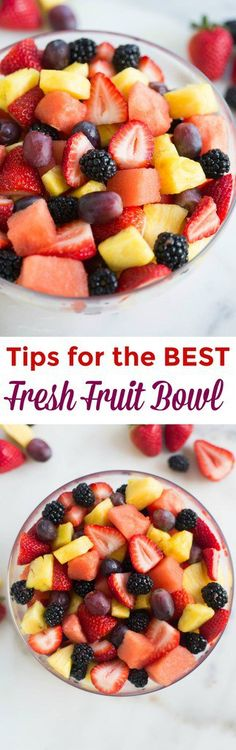 Take advantage of your favorite seasonal fruits to put together the BEST fresh fruit bowl! I've got a few easy tips for cutting, storing and assembling your fruit so that it tastes and looks amazing. (Favorite Salad Sweets)