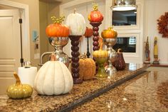 love the height of these fall decorations.
