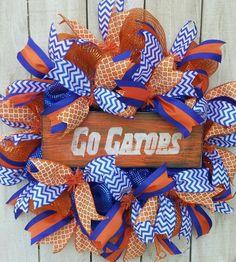 Florida Gators Football Wreath Florida Swamp by PollysPinkTurtle