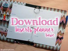 Download – Inserts para planner – básico – A5 e personal | Déia Dietrich