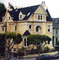 The C. A. Belden House, a Queen Anne Victorian in the Pacific Heights section on Gough Street Between Clay and Washington Streets. It was designed by Walter Matthews in 1889. The house is on the National Register of Historic Places in San Francisco.