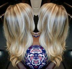 Blonde hair. Ombré. Davines. Flamboyage @ house of cabelo.