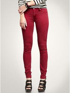 Love red skinny jeans.  Ordered these last nite....