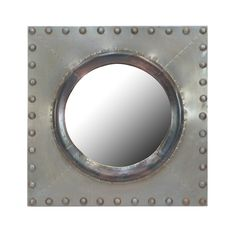 Add contemporary style to any room with this Ocampo mirror from Andrew Martin. This circular mirror has a polished zinc frame with studded detailing along the edge. More statement mirrors are avail...