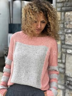 Cable Sweater Wool Angora Sweater Stripe - Diy Crafts - The Knitting Time Handgestrickte Pullover, Angora Sweater, Cable Sweater, Jumper Knitting Pattern, Jumper Patterns, Hand Knitting, Hand Knitted Sweaters, Vintage Knitting, Womens Fashion