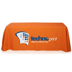 "#TTC137 - 8' 3-Sided Table Cover - Full Color on Front (Product Size: 30"" x 8' x 29"") #tablecover #tablecloth #custom #imprinted"