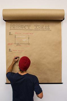 壁に貼って、そのまま紙をだして書けるローラー、studio roller。大きな面積なので、アイディアが出てきそうです。