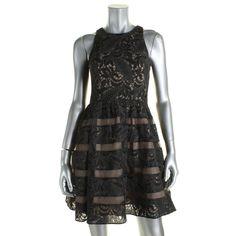 Aidan by Aidan Mattox Womens Lace Illusion Semi-Formal Dress