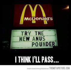 I think I'll pass...