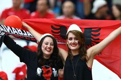 Albanian supporters Euro 2016 Group A soccer match between France vs Albania at the Velodrome Stadium in Marseille, France, Wednesday, June 15, 2016.//CIAMBELLI_1300.001/Credit:CIAMBELLI/SIPA/1606152041