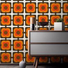 70s pattern - Google Search Self Adhesive Wallpaper, Fabric Wallpaper, Cool Wallpaper, Wallpaper Patterns, 70s Decor, Retro Home Decor, Art Mural, Wall Murals, Mid Century Modern Wallpaper