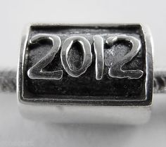 """""""2012"""" Sterling Silver European Large Hole Story Bead NEW"""